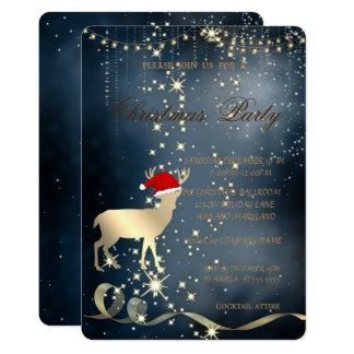Elegante Weihnachtsrotwild-Weihnachtsmannmütze, Karte