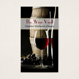 Elegante Wein-Thema-Gewohnheits-Visitenkarte Visitenkarte