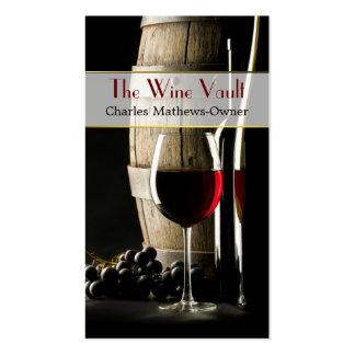 Elegante Wein-Thema-Gewohnheits-Visitenkarte Visitenkarten