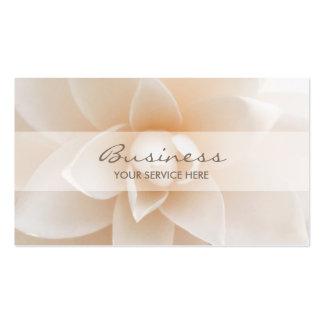 Elegante weiße BlumenVisitenkarten Visitenkarten