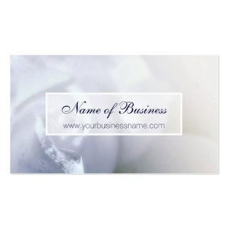 Elegante weiße Hochzeits-Rosen-weibliches Blumen Visitenkarten Vorlage