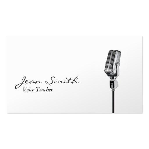 Elegante weiße Sprachlehrer-Visitenkarte