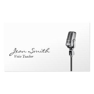 Elegante weiße Sprachlehrer-Visitenkarte Visitenkarten