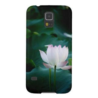 Elegante weißer Lotos-Blume Hülle Fürs Galaxy S5