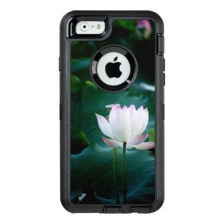 Elegante weißer Lotos-Blume OtterBox iPhone 6/6s Hülle