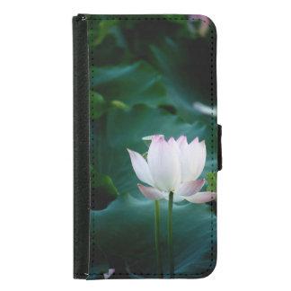 Elegante weißer Lotos-Blume Samsung Galaxy S5 Geldbeutel Hülle