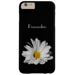 Elegante weißes Gänseblümchen-Blume mit Namen Barely There iPhone 6 Plus Hülle