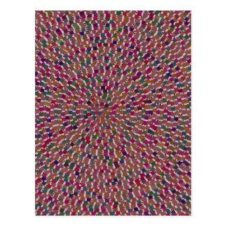 Elegante Wellen-Feier-Schablone addieren Postkarten