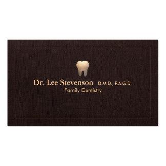 Elegante Zahnarzt-Zahn-Logo-Büro-Verabredung Visitenkarten