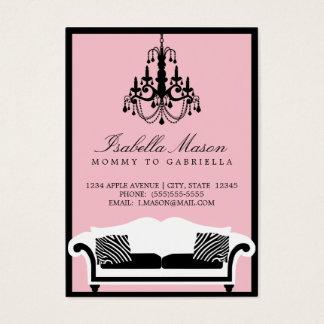 Elegante Zebra-Mama-Telefonkarte Visitenkarte