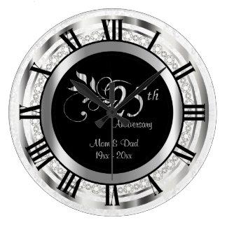 Eleganter 25. silberner Diamant-Jahrestag Uhr
