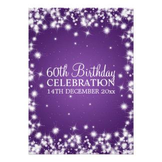 Eleganter 60 Geburtstags-Party-Winter-Schein lila