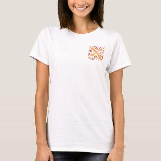 Eleganter antiker mittelalterlicher Buchstabe X T-Shirt