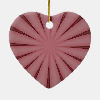 Eleganter antiker rosa Kaleidoskop-Entwurf Keramik Ornament