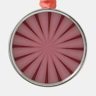 Eleganter antiker rosa Kaleidoskop-Entwurf Silbernes Ornament