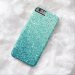 Eleganter aquamariner Glitter LuxusiPhone 6 Fall Barely There iPhone 6 Hülle