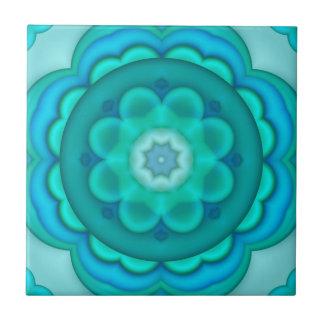 Eleganter aquamariner Türkis-geometrische Keramikfliese