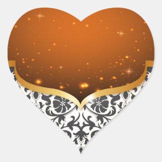 Eleganter Araber Herz-Aufkleber