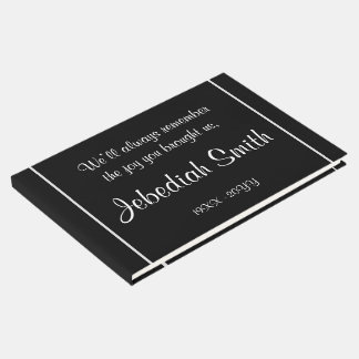 Eleganter Beileids-BegräbnisGuestbook Gästebuch