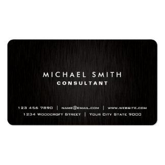 Eleganter beruflicher einfacher schwarzer moderner visitenkarten