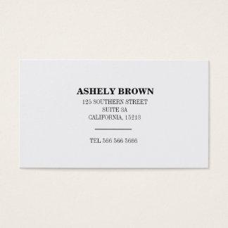 Eleganter beruflicher einfacher weißer Minimalist Visitenkarte