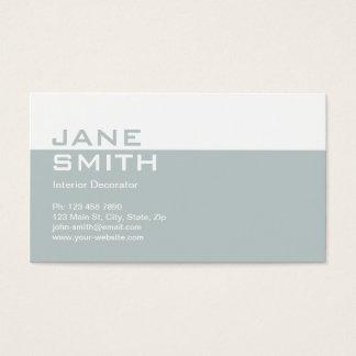 Eleganter beruflicher Innenarchitektur-Dekorateur Visitenkarten