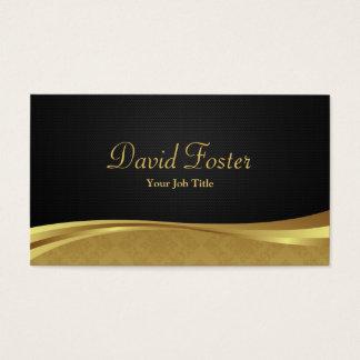 Eleganter beruflicher Schwarz-und Golddamast Visitenkarten