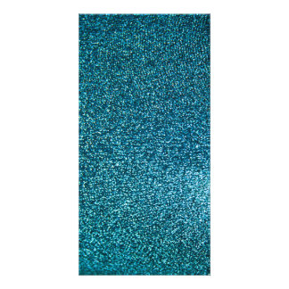 Eleganter blauer Glitter Bildkarte