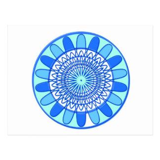 Eleganter blauer Schein-Juwel-Entwurf Postkarte