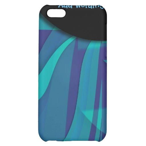 Eleganter blauer Strudel der Fantasie iPhone 5C Hüllen