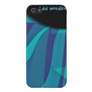 Eleganter blauer Strudel der Fantasie iPhone 5 Etui