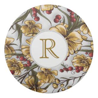 eleganter Blumendruck der gelben Blumen Radiergummis 0