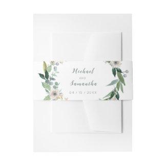 Eleganter BlumenKranz-HochzeitBellyband Einladungsbanderole