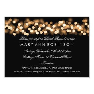 Eleganter Brautparty-Goldhollywood-Zauber 12,7 X 17,8 Cm Einladungskarte