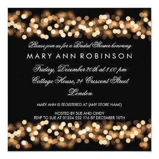 Eleganter Brautparty-Goldhollywood-Zauber Quadratische 13,3 Cm Einladungskarte