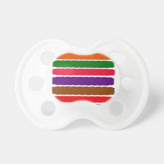Eleganter bunter Regenbogen schneidet Muster Baby Schnuller