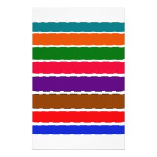 Eleganter bunter Regenbogen schneidet Muster Briefpapier