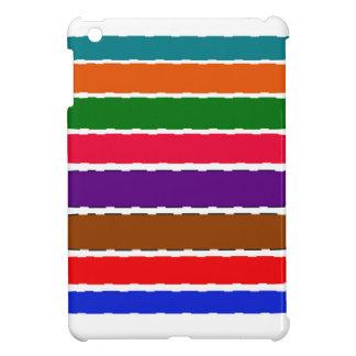 Eleganter bunter Regenbogen schneidet Muster iPad Mini Hülle