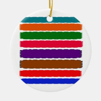 Eleganter bunter Regenbogen schneidet Muster Keramik Ornament