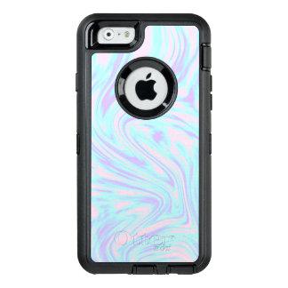 eleganter bunter rosa blauer lila weißer Marmor OtterBox iPhone 6/6s Hülle