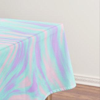 eleganter bunter rosa blauer lila weißer Marmor Tischdecke
