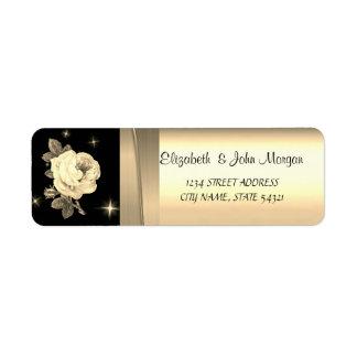 Eleganter Chic-Luxus, Imitat-Gold, Schwarzes, Rose