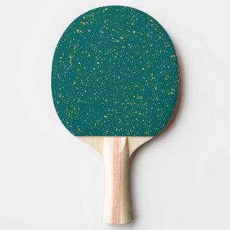 Eleganter Confetti-Raum - aquamarines Grün u. Tischtennis Schläger