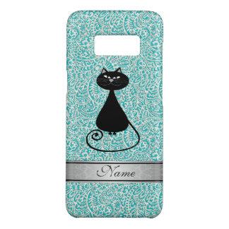 Eleganter Damast der schwarzen Katze Case-Mate Samsung Galaxy S8 Hülle