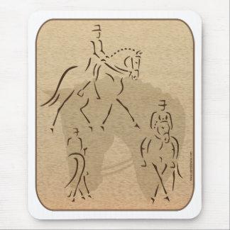 Eleganter Dressage-Pferdeentwurf in Brown/in TAN Mousepads