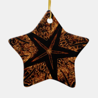 Eleganter dunkler kaleidoskopischer keramik ornament