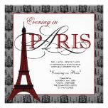 Eleganter Eiffelturm-Paris-Abschlussball Personalisierte Einladungskarten