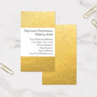 Eleganter einfacher Goldfolien-Effekt-Hintergrund Visitenkarte
