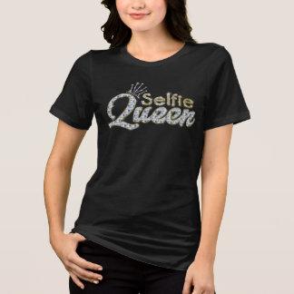 Eleganter einzigartiger schwarzer Golddiamant T-Shirt