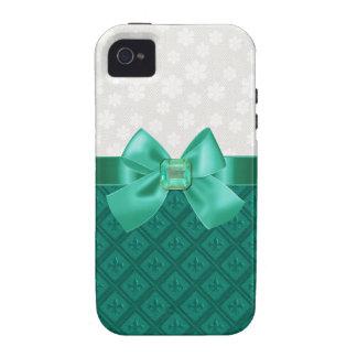 Eleganter Emerald Fleur Di Lys iPhone Fall iPhone 4/4S Hülle